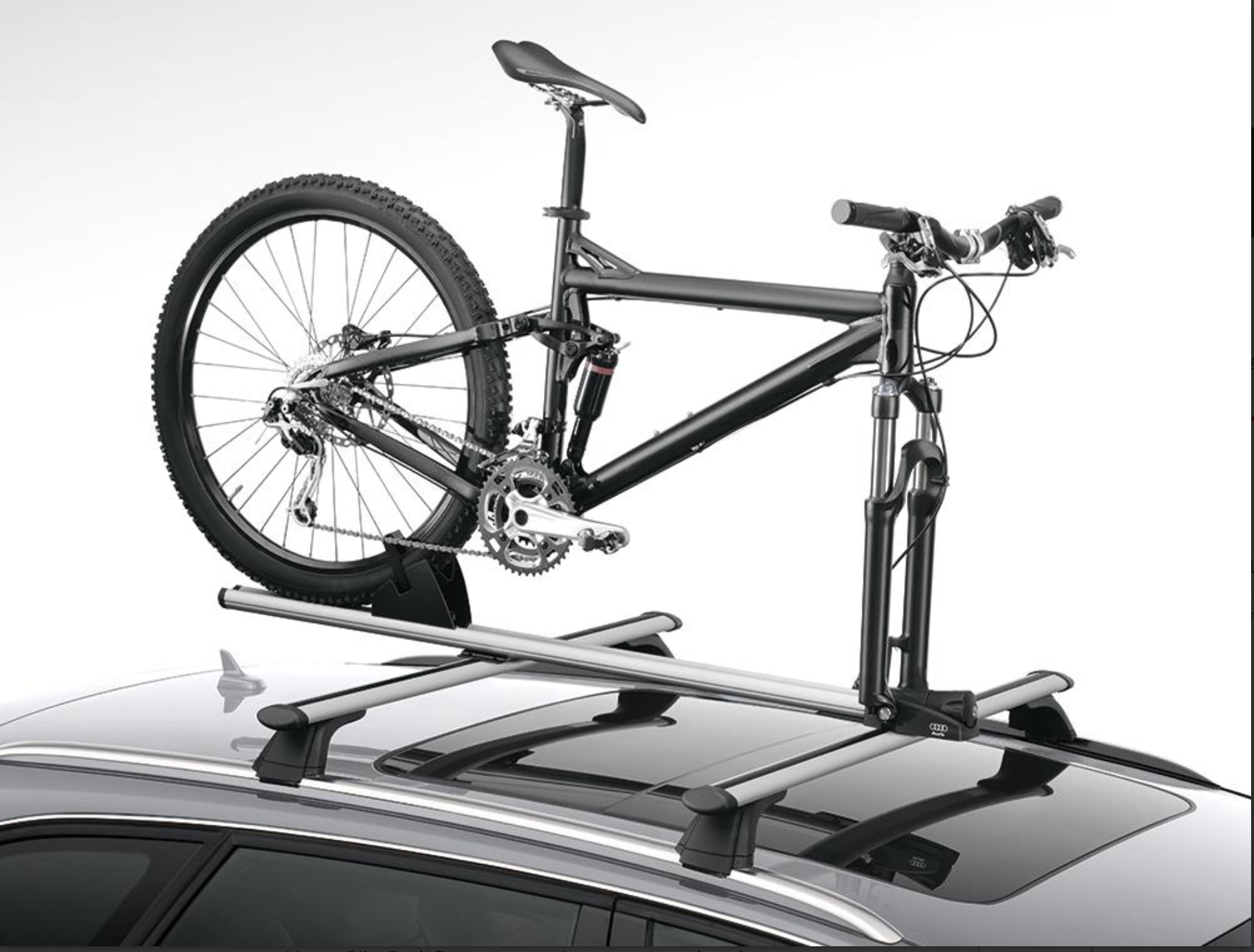 audi roof bicycle rack fork